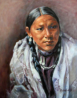 Painting - Cheyenne Woman by Synnove Pettersen