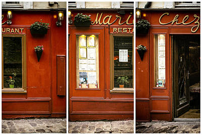 Chez Marie Triptych Art Print