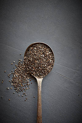 Photograph - Chia Seeds by Lew Robertson