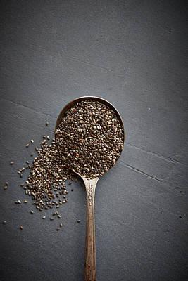 Chia Seeds Art Print by Lew Robertson