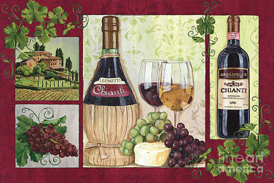 Antique Bottles Painting - Chianti And Friends 2 by Debbie DeWitt