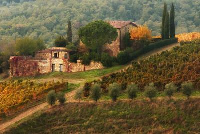 Photograph - Chianti Villa by John Galbo