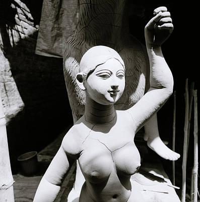 Kumortuli Photograph - Chiaroscuro Goddess by Shaun Higson