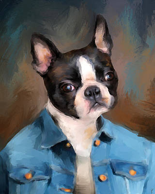 Painting - Chic Boston Terrier by Jai Johnson
