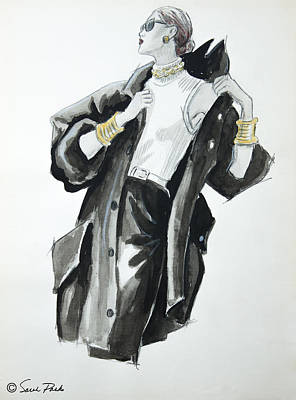 Eighties Drawing - Chic by Sarah Parks