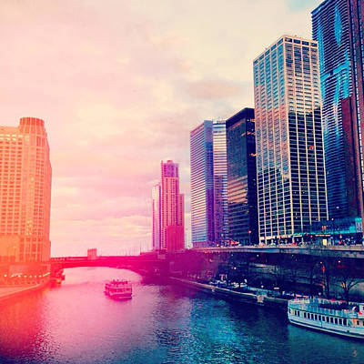 City Skyline Digital Art - Chicago #1 by Stacia Blase