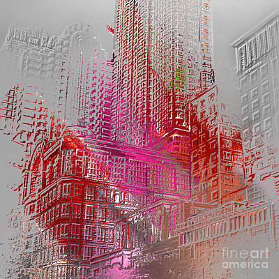 Digital Art - Chicago 2 by Soumya Bouchachi