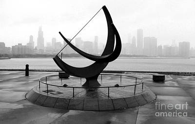 Photograph - Chicago Adler Planetarium City View by Gregory Dyer