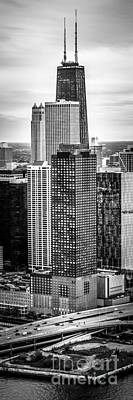 Hancock Building Wall Art - Photograph - Chicago Aerial Vertical Panorama Photo by Paul Velgos