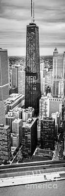 Hancock Building Photograph - Chicago Aerial Vertical Panoramic Picture by Paul Velgos
