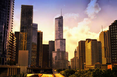 Photograph - Chicago After The Rain Trump Tower by Thomas Woolworth