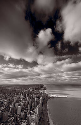 Chicago Aloft Bw Original by Steve Gadomski
