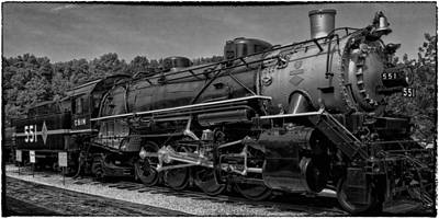 Photograph - Chicago And Il Midland Ry Engine 551 by Greg Kluempers