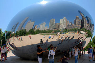 Photograph - Chicago And Its Bean by Caroline Stella