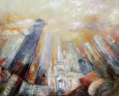 Chicago Skyline Mixed Media - Chicago   by Anna Yakimenko