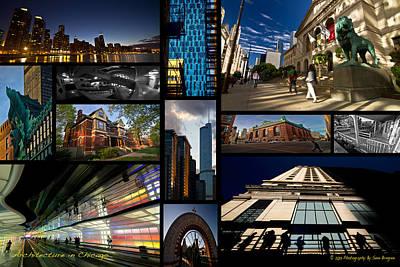 Chicago Architecture Photo Collage Print by Sven Brogren