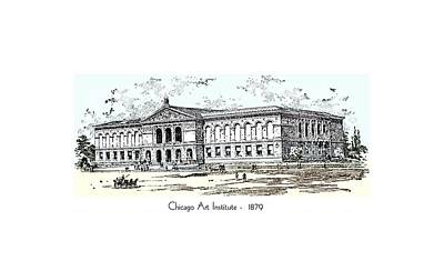 Chicago Art Institute -  1879 Art Print