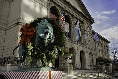 Photograph - Chicago Art Institute Guardian by Sebastian Musial