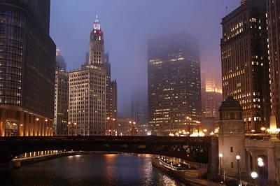 Chicago At Night Original