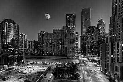 Photograph - Chicago At Twilight  by Erwin Spinner
