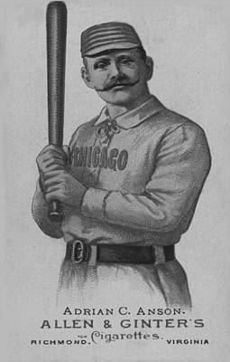 Digital Art - Chicago Ball Player 1887 by George Pedro
