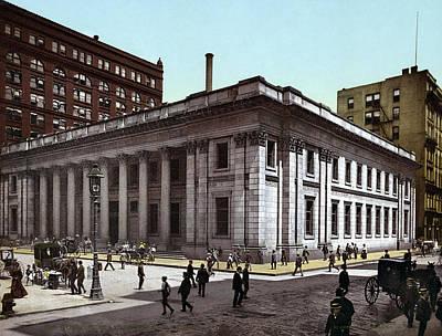 Saving Painting - Chicago Bank, C1900 by Granger