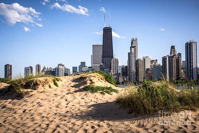 Chicago Beach And Skyline Art Print by Paul Velgos