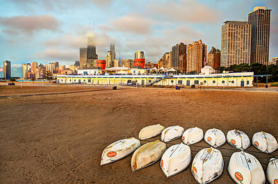 Photograph - Chicago Beach Boats by Gregory Ballos