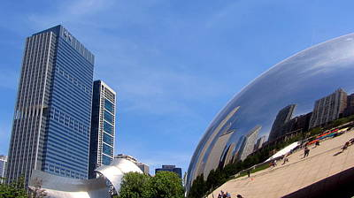 Photograph - Chicago Bean And Millennium Park by Anita Burgermeister