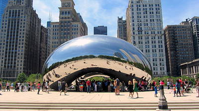 Photograph - Chicago Bean Wide View by Anita Burgermeister