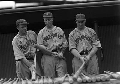 Baseball Bat Photograph - Boston Braves Bats by Retro Images Archive