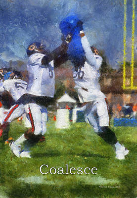 Chicago Bears Coalesce At Training Camp 2014 Pa 02 Art Print by Thomas Woolworth