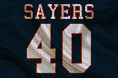 Chicago Bears Gale Sayers Art Print by Joe Hamilton