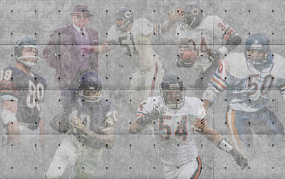 Chicago Bears Legends Art Print by Joe Hamilton