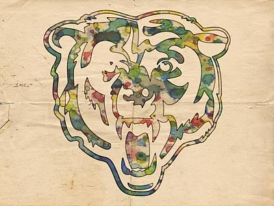 Painting - Chicago Bears Logo Art by Florian Rodarte