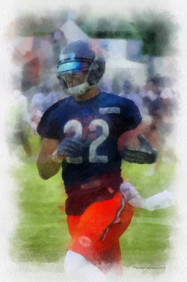 Running Back Mixed Media - Chicago Bears Rb Matt Forte Training Camp 2014 Pa 01 by Thomas Woolworth