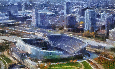 Soldier Field Digital Art - Chicago Bears Soldier Field 02 Photo Art by Thomas Woolworth
