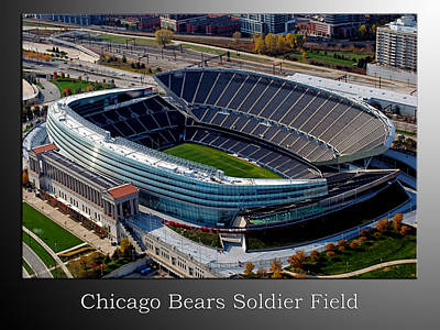 Tom Boy Mixed Media - Chicago Bears Soldier Field by Thomas Woolworth
