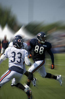 Chicago Bears Te Dante Rosario Training Camp 2014 03 Art Print by Thomas Woolworth