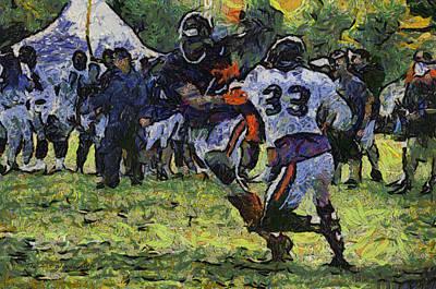 Chicago Bears Wr Brandon Marshall Training Camp 2014 Photo Art 04 Art Print