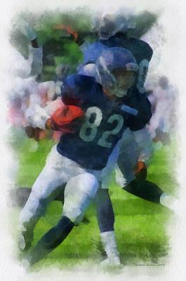 Chicago Bears Wr Chris Williams Training Camp 2014 Pa 01 Art Print