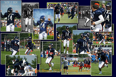 Chicago Bears Wr Eric Weems Training Camp 2014 Collage Art Print
