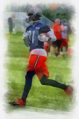 Chicago Bears Wr Terrence Toliver Training Camp 2014 Pa 01 Art Print
