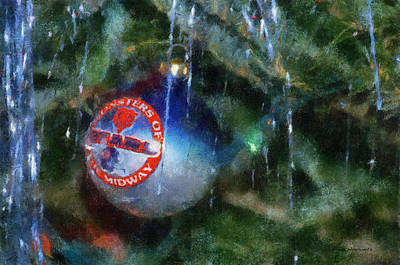 Soldier Field Digital Art - Chicago Bears Xmas Ornament Photo Art 01 by Thomas Woolworth
