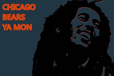 Chicago Bears Ya Mon Print by Joe Hamilton