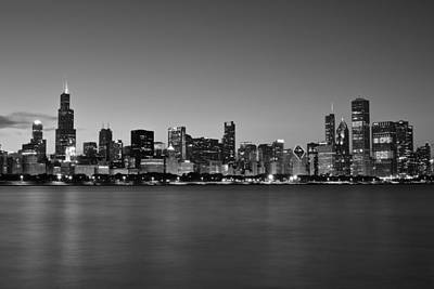 Black Commerce Photograph - Chicago Black And White   by Frozen in Time Fine Art Photography