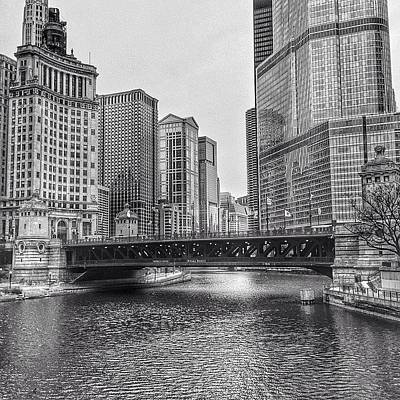 Architecture Wall Art - Photograph - #chicago #blackandwhite #urban by Paul Velgos
