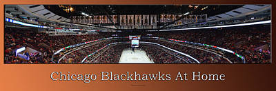 Photograph - Chicago Blackhawks At Home Panorama Tan by Thomas Woolworth