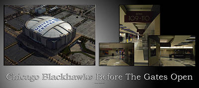 Photograph - Chicago Blackhawks Before The Gates Open Interior 2 Panel Sb 01 by Thomas Woolworth