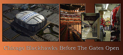 Photograph - Chicago Blackhawks Before The Gates Open Interior 2 Panel Tan 01 by Thomas Woolworth